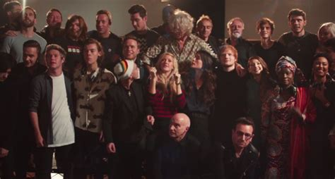 """Watch Band Aid 30's """"Do They Know It's Christmas?"""" and"""