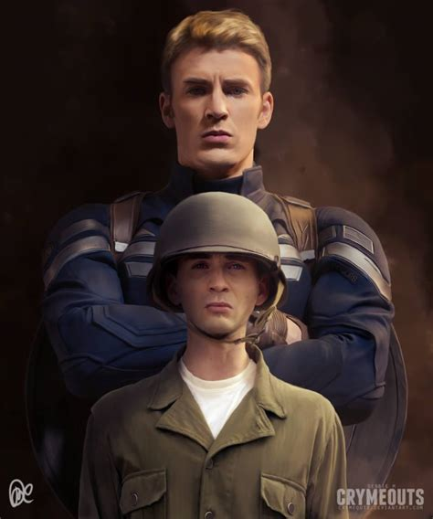 Captain America (Steve Rogers) before and after