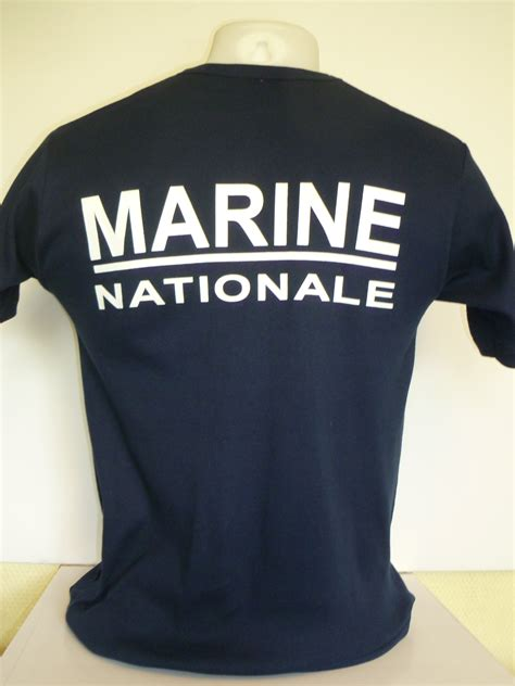 Tee shirt Marine Nationale service courant