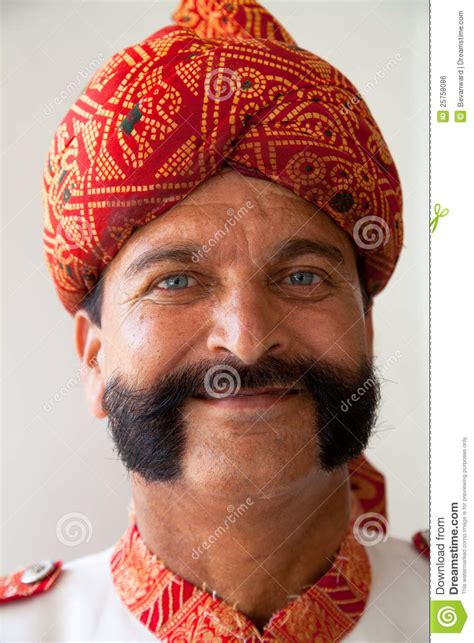 Indian Man With Handlebar Moustache Editorial Photo