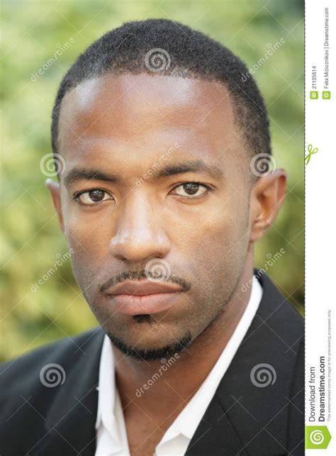 Black man with a mustache stock photo