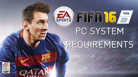 FIFA 16 PC – System Requirements – FIFPlay