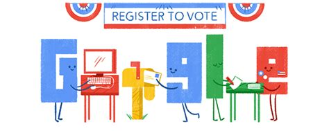 Google Doodle Tells You How To Register To Vote