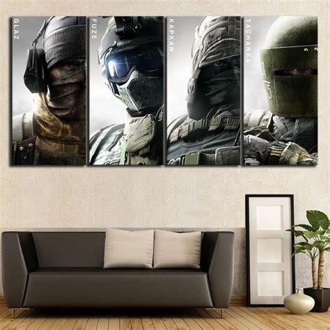 4 Piece Special Forces Poster Rainbow Six Siege Painting
