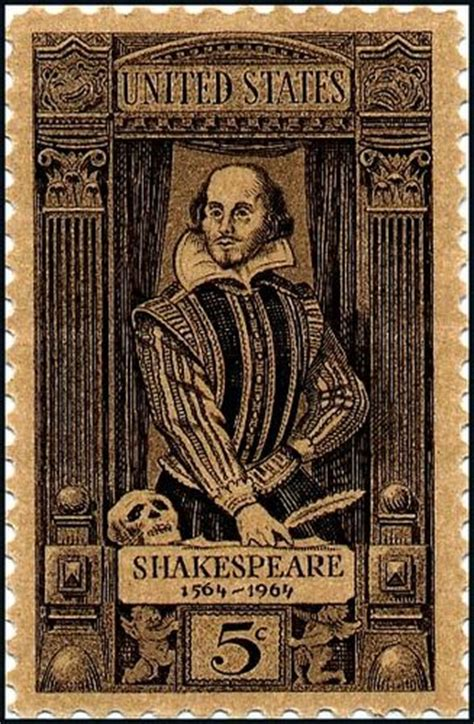 William Shakespeare stamp issued in 1964