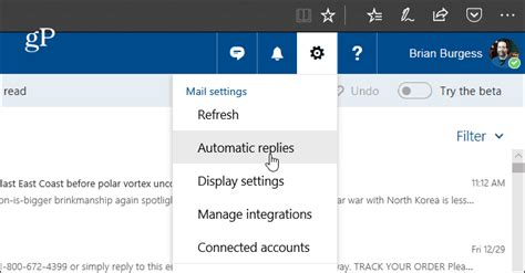 Create Automatic Replies in Outlook