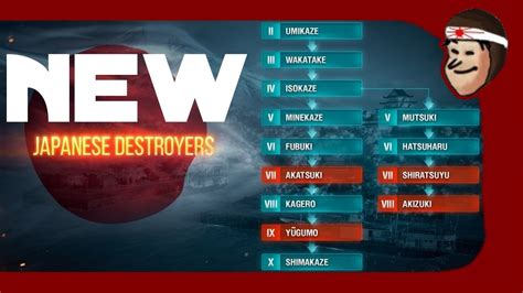NEW Tech Tree Changes for Japanese Destroyers & Leaked
