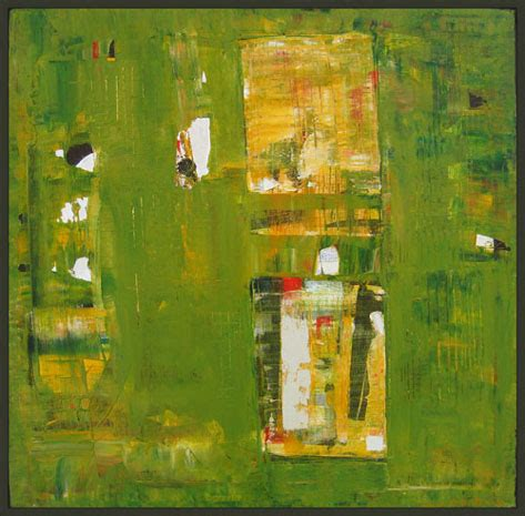 Olive Green Abstract Art Painting Iodine by Shawn McNulty
