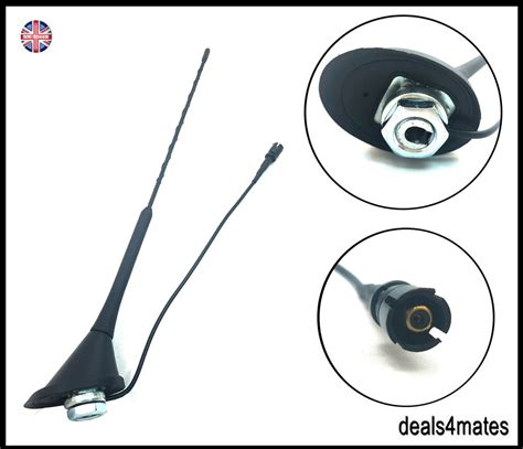 """16"""" REPLACEMENT ROOF MOUNT CAR AERIAL ANTENNA MAST BASE VW"""