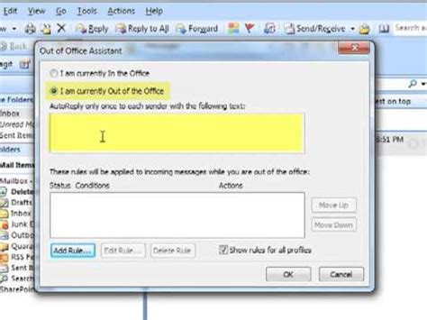 How-To Enable Out Of Office Assistant Auto-Reply in
