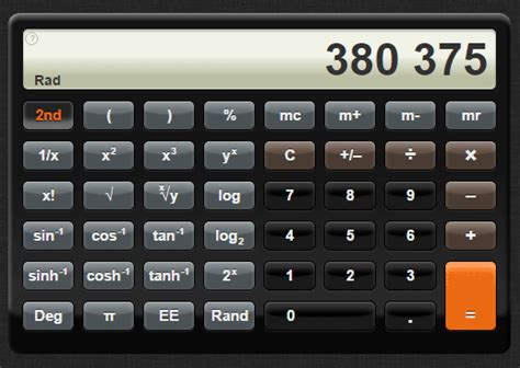 A CSS3 Simple and Scientific Calculator (iPhone clone) for